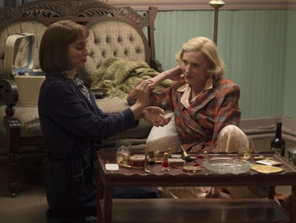 Cate Blanchett and Rooney Mara Carol